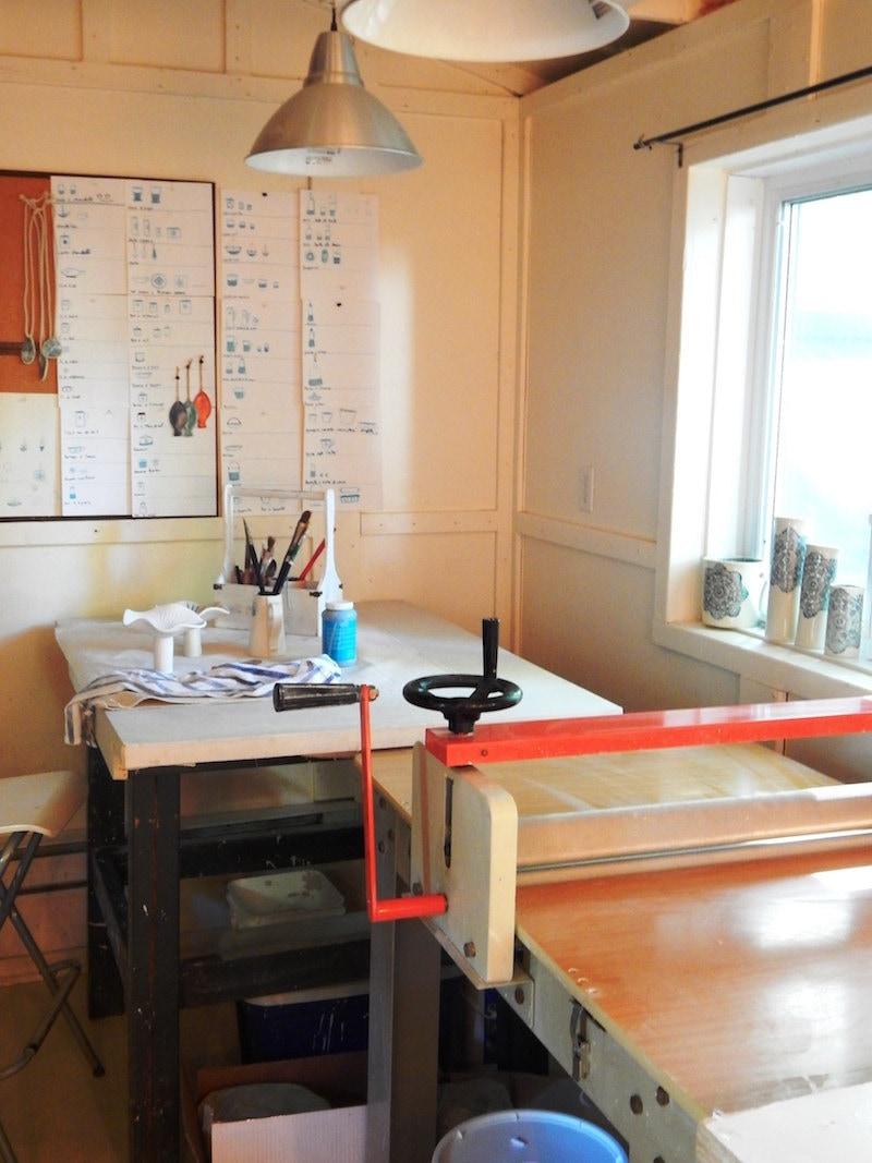 Edith's sunny studio off the coast of Montreal, Canada