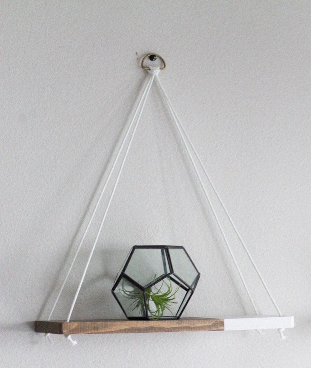 Hanging two-tone shelf from TheCraftySwirl, $20