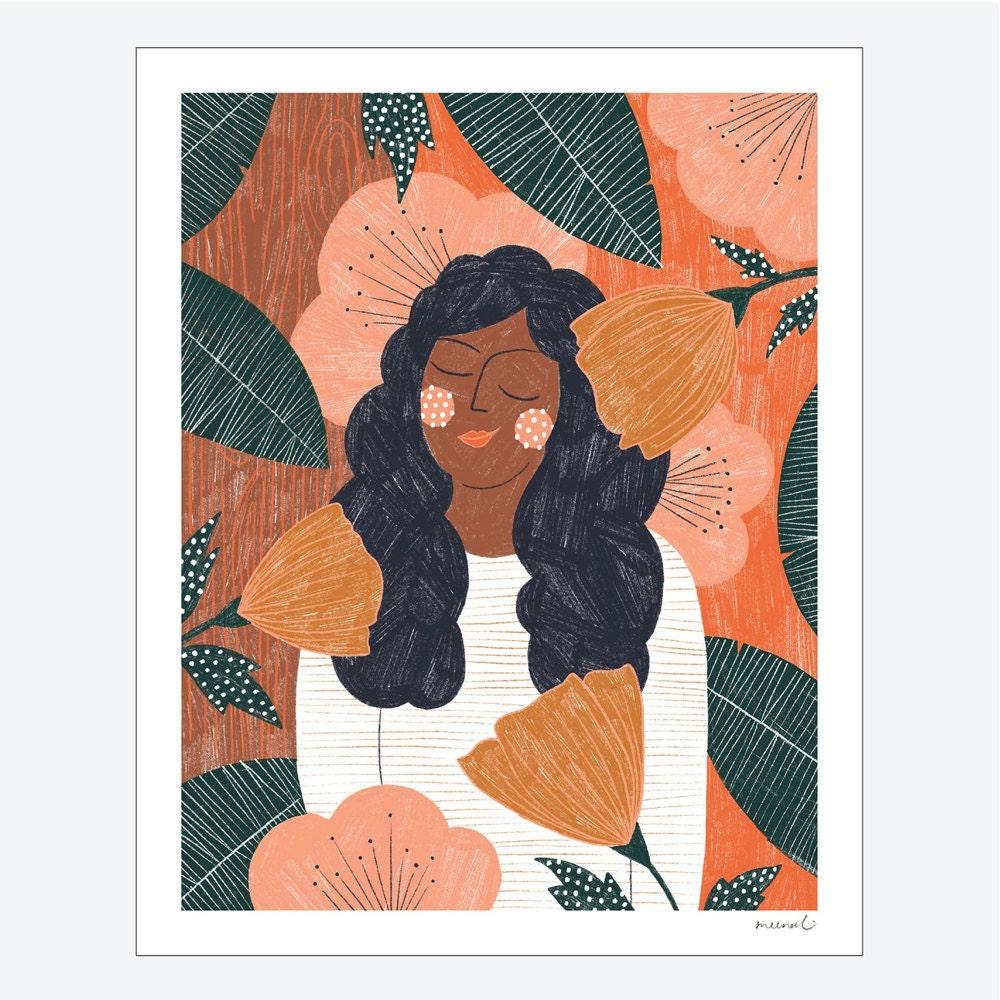 California Poppy nature print from Meenal Patel Studio
