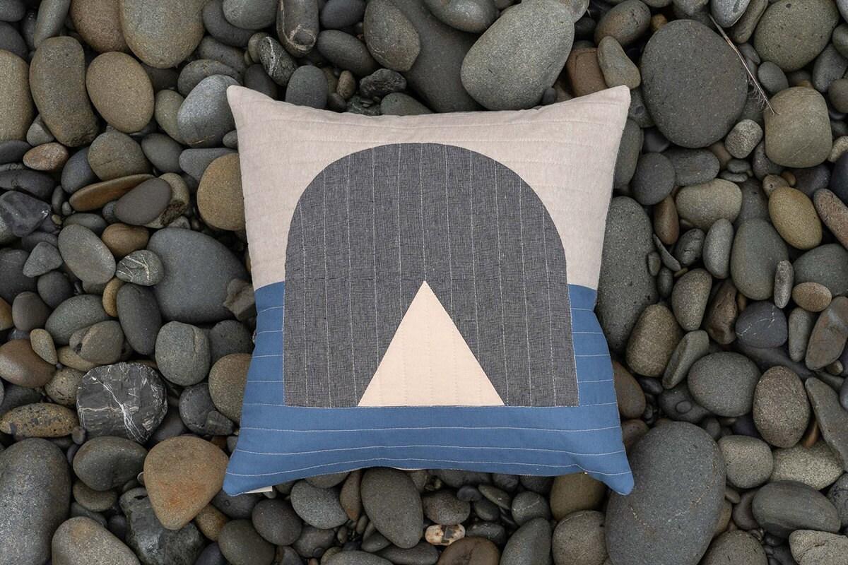 Sea Stack Pillow from Vacilando Quilting