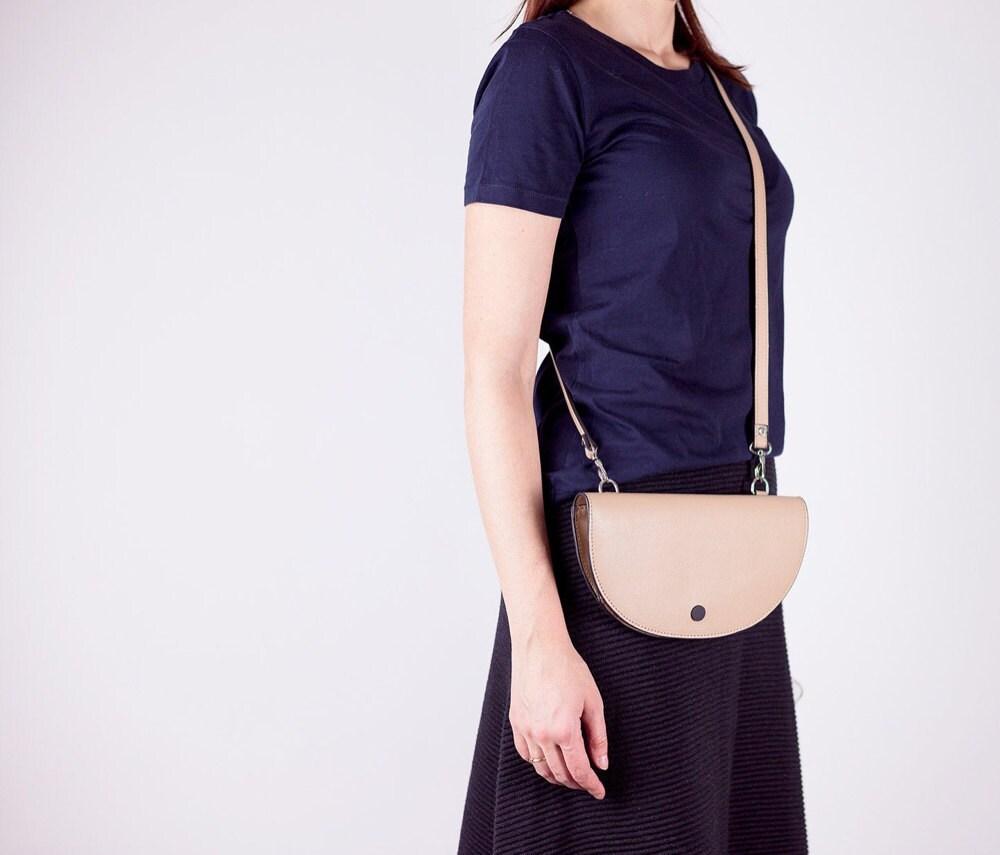 Half moon convertible shoulder bag from Boejack Design