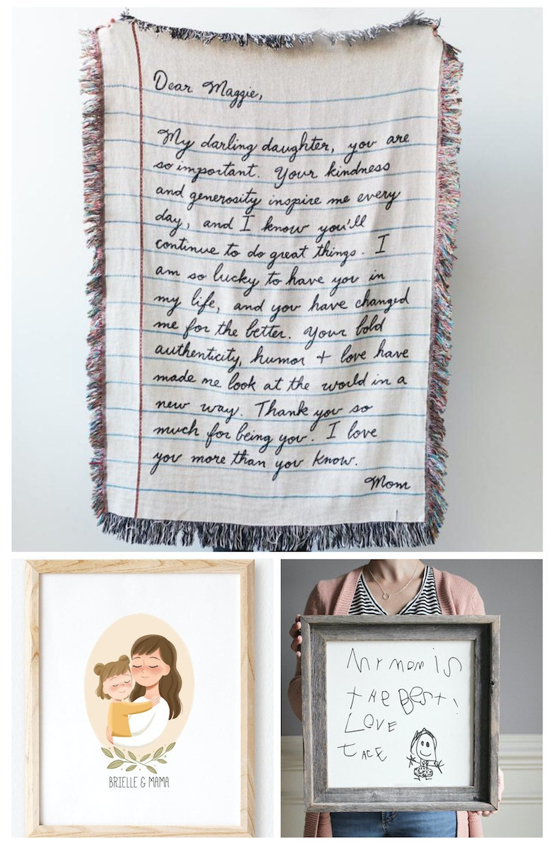Personalized keepsakes for Mother's Day, from Etsy