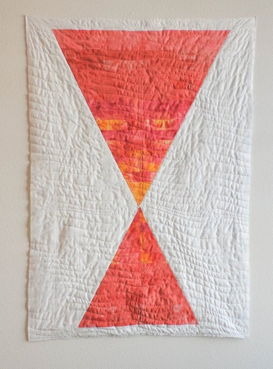 Minimalist sunset quilt pattern from Etsy