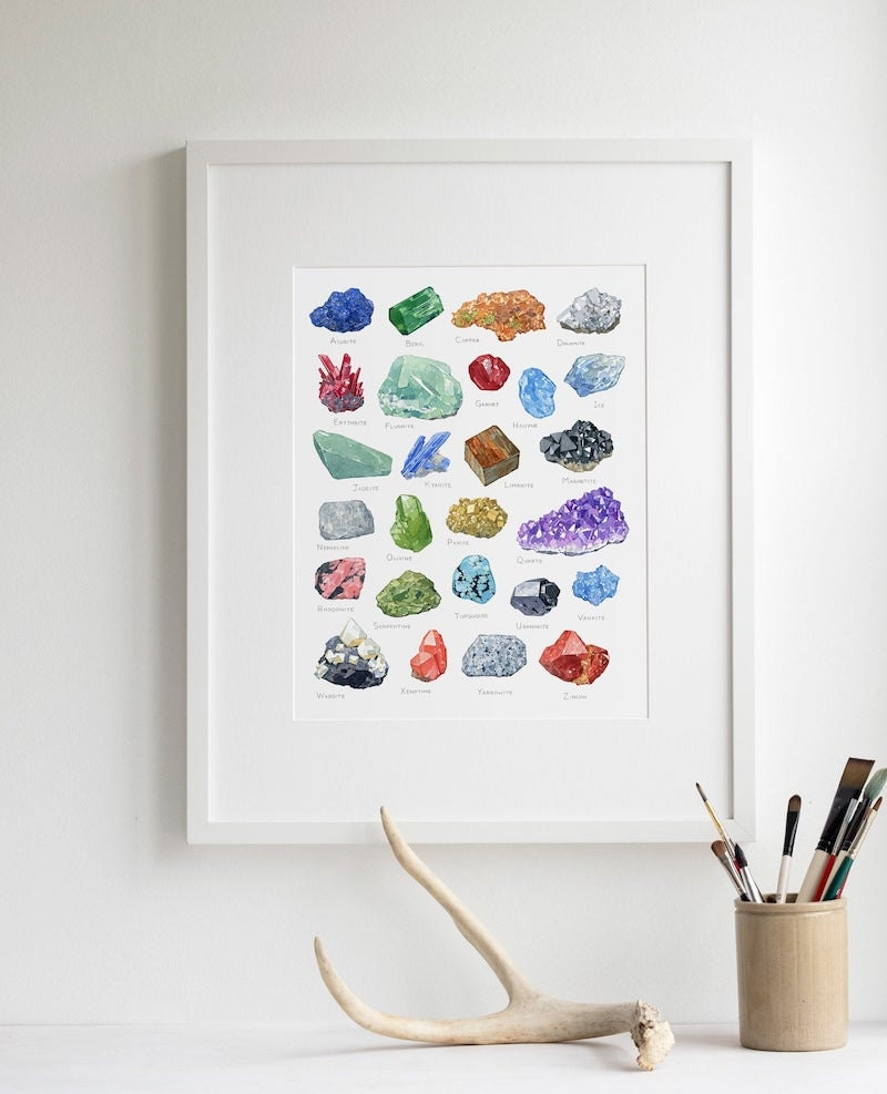 Assorted crystals print from Studio Tuesday