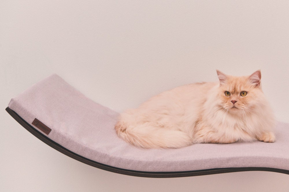 The Etsy Design Awards Pets Category Finalist: a wall shelf cat bed from Cosy and Dozy