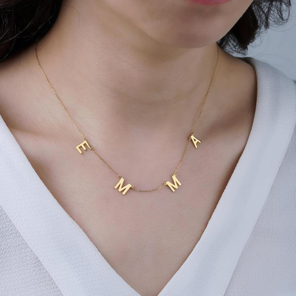 Personalized initial necklace from Dainty Jewel Design