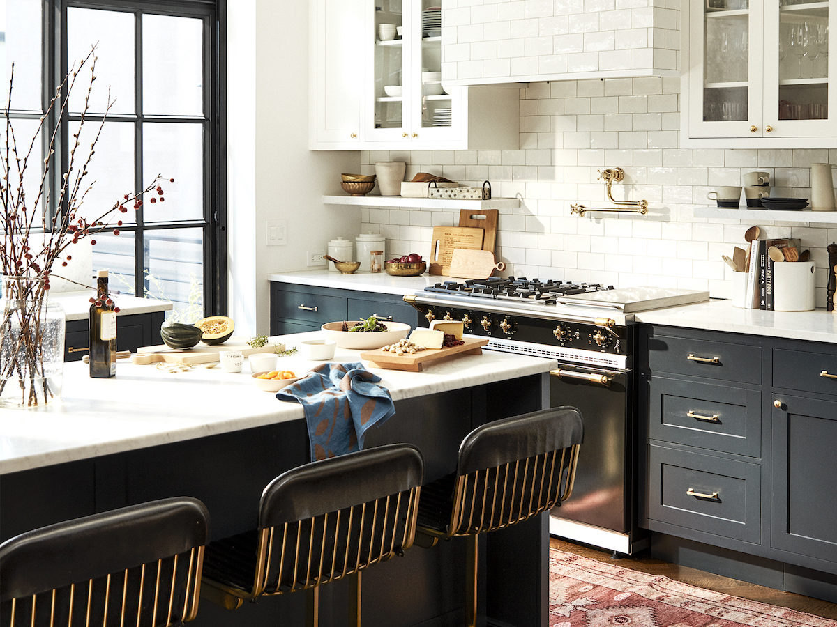 A beautifully styled kitchen filled with elevated cooking staples.