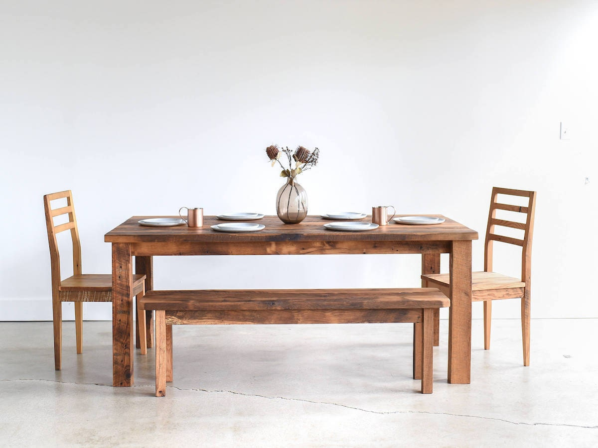 Wood dining table from What WE Make