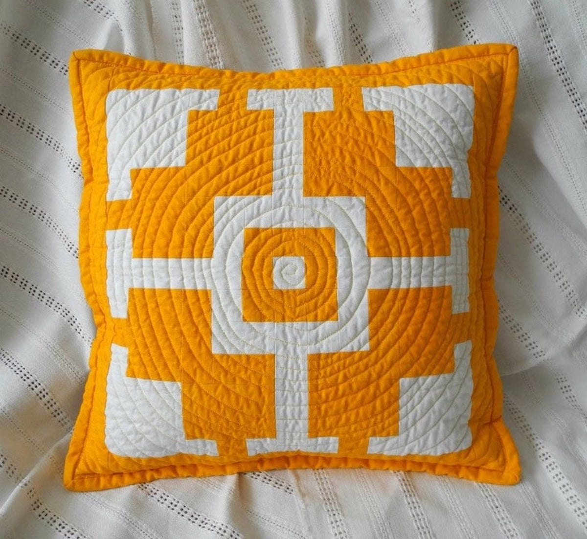 A patchwork pillow pattern from Etsy