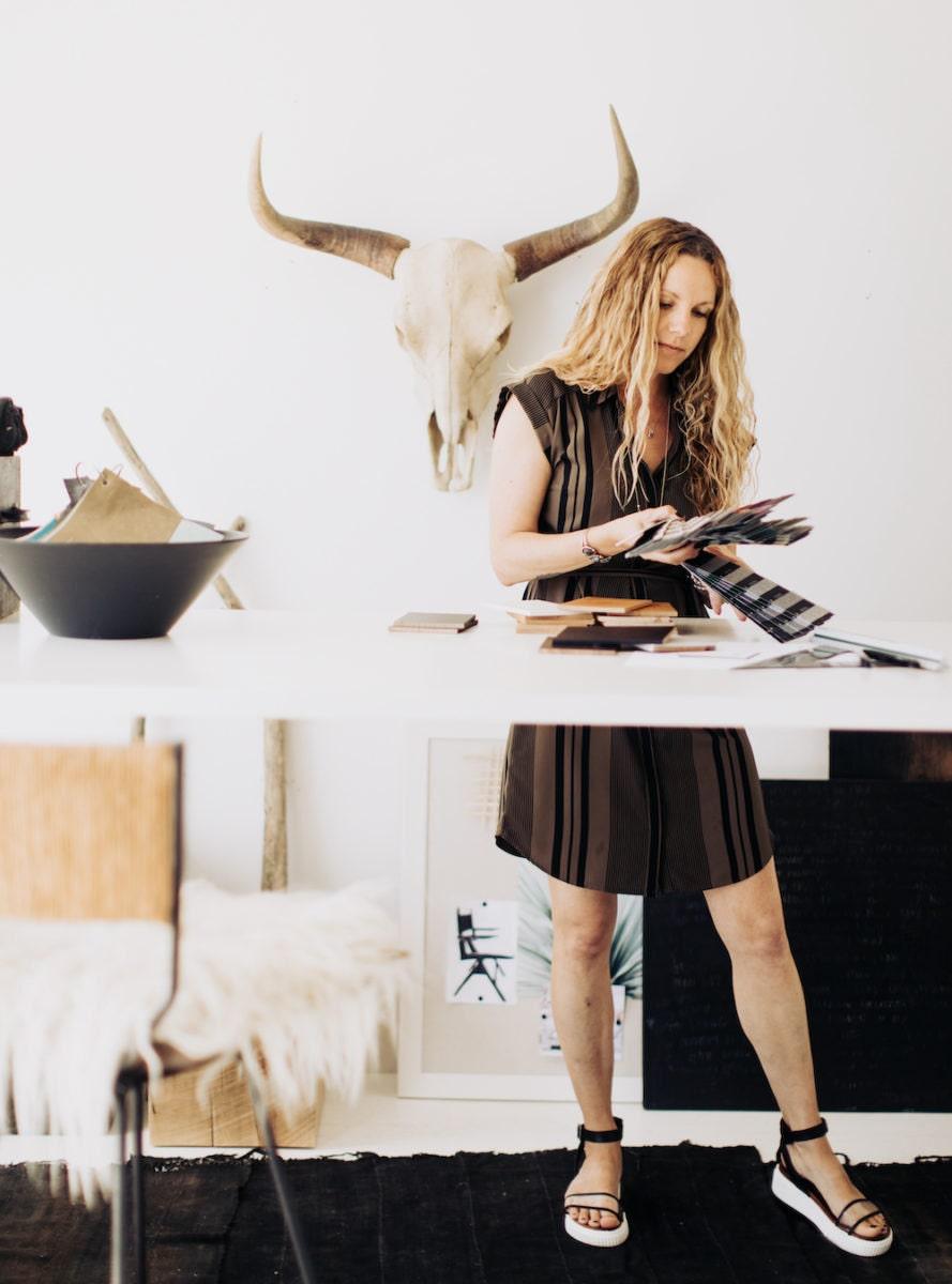 Gretta Jones in her studio