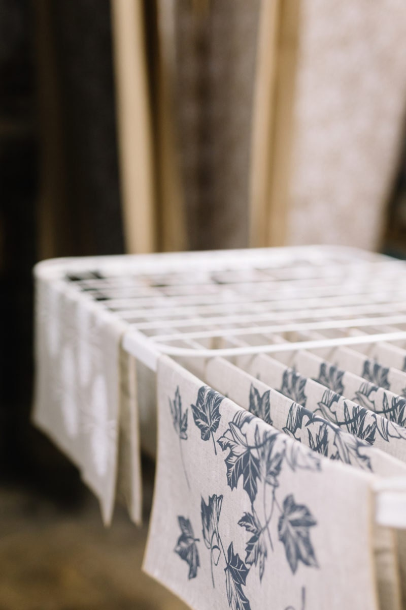 Printed textiles drying