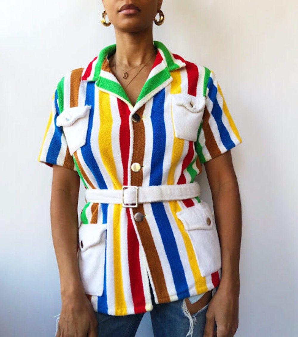 A '70s belted terry cloth shirt from Threads of Habit