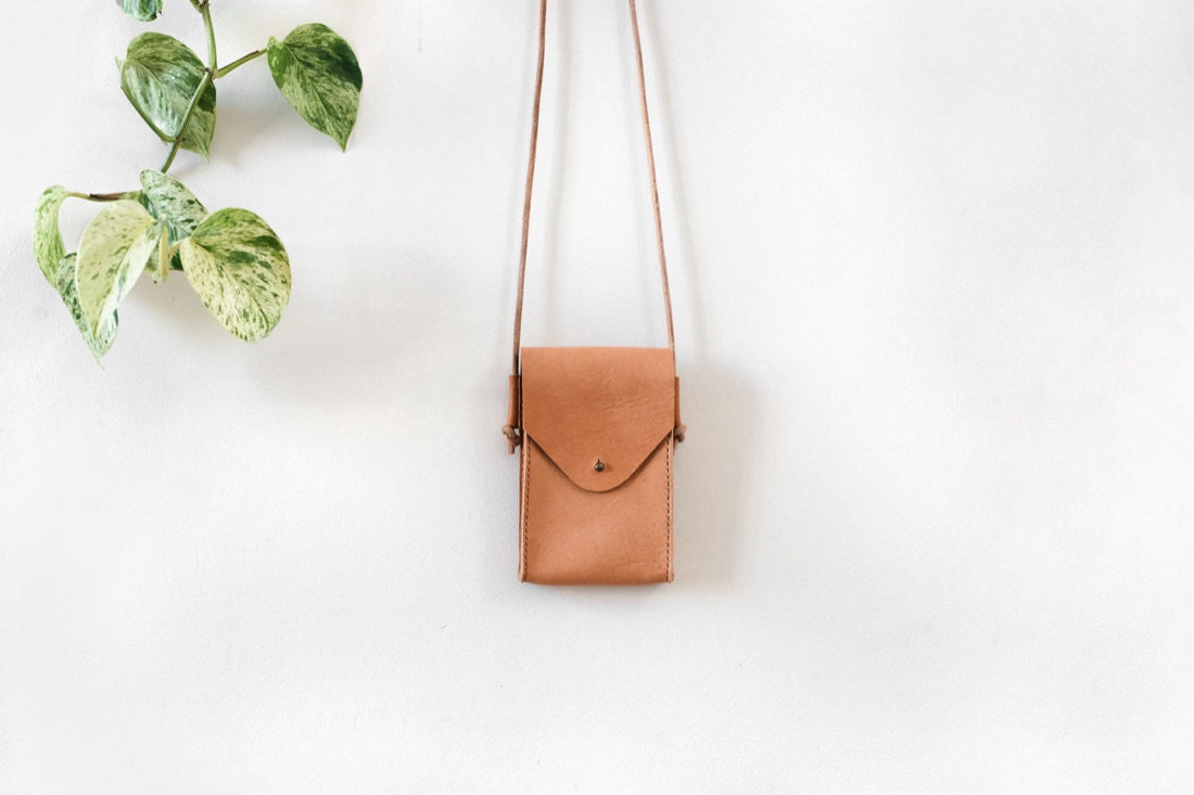 Leather phone sling from Small Queue