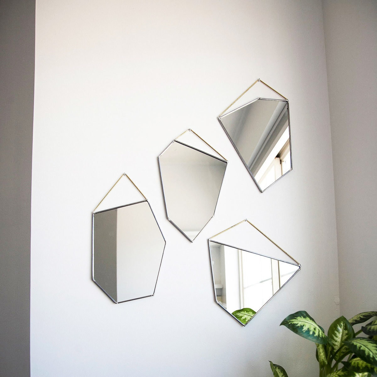 Geometric mirrors from Etsy