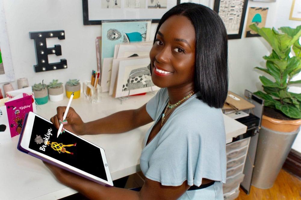 Karina Parris in her studio