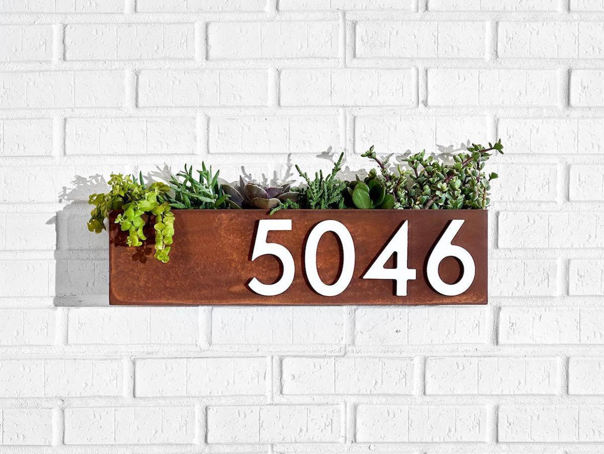 Modern address number sign from ModMettle, on Etsy