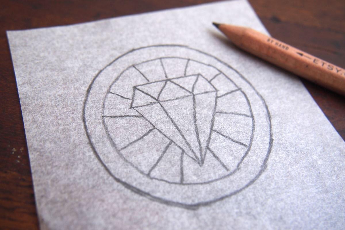 Sketch of diamond