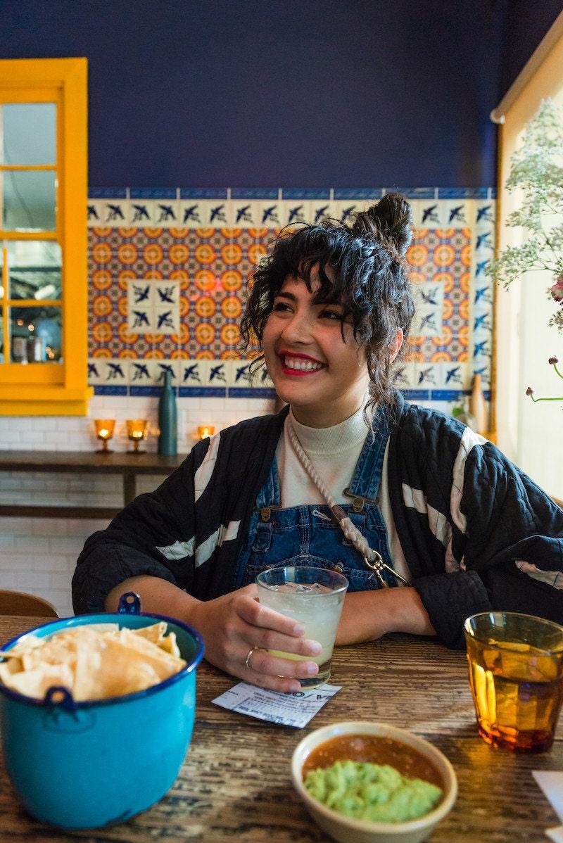 Melanie enjoys a margarita at Nido