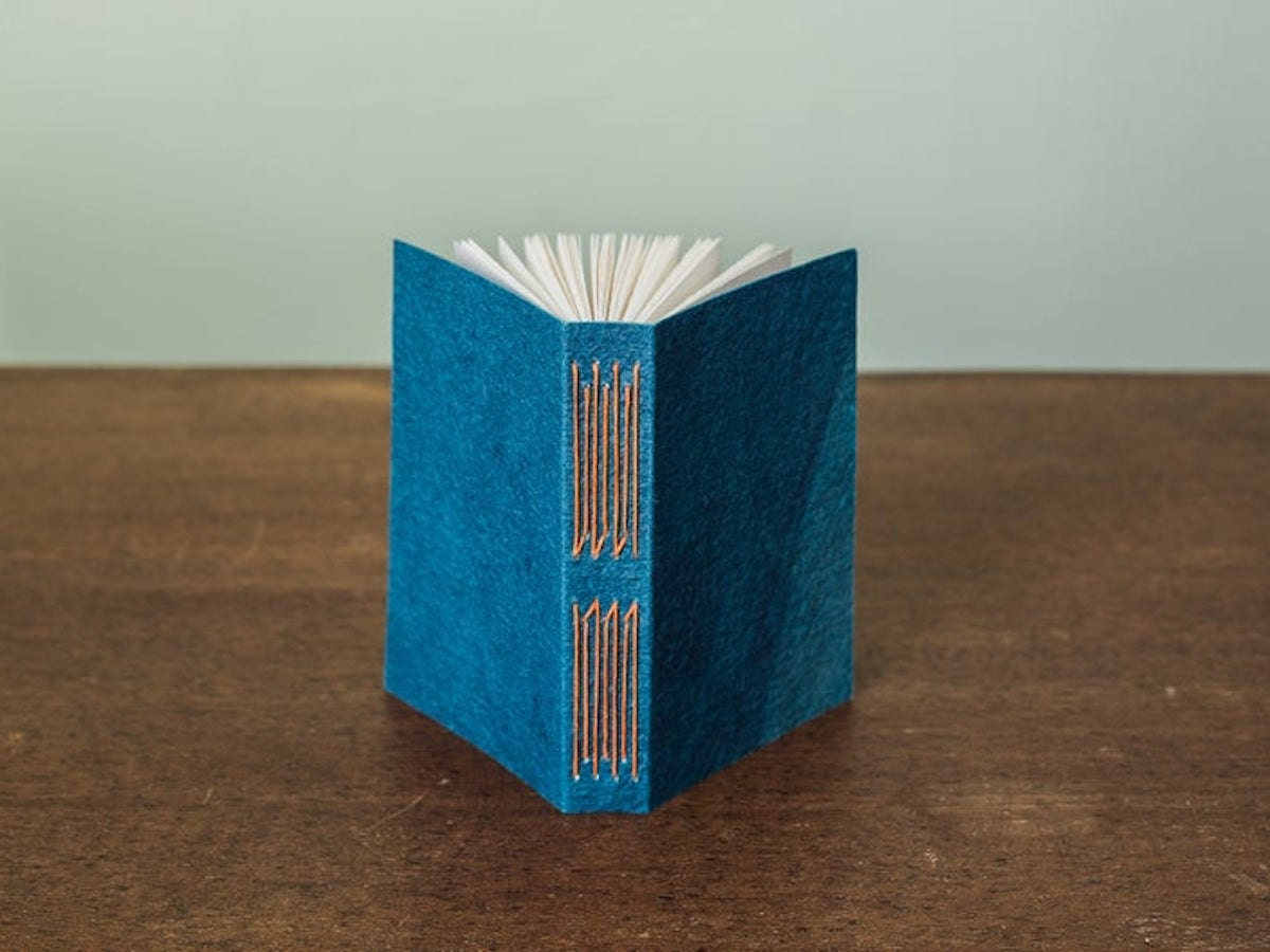 Handmade journal from Linen Laid & Felt and more of the best dad gifts from Etsy