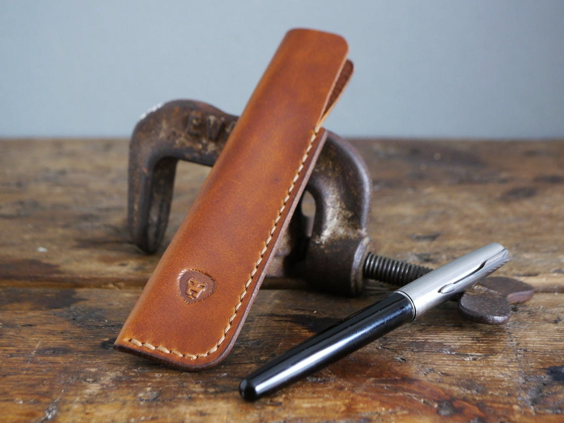 Leather pen holder from Kingsley Leather