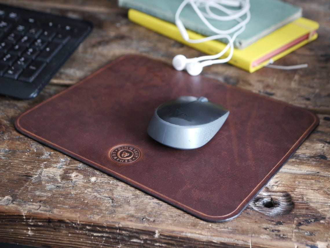 Leather mousepad from Kingsley Leather