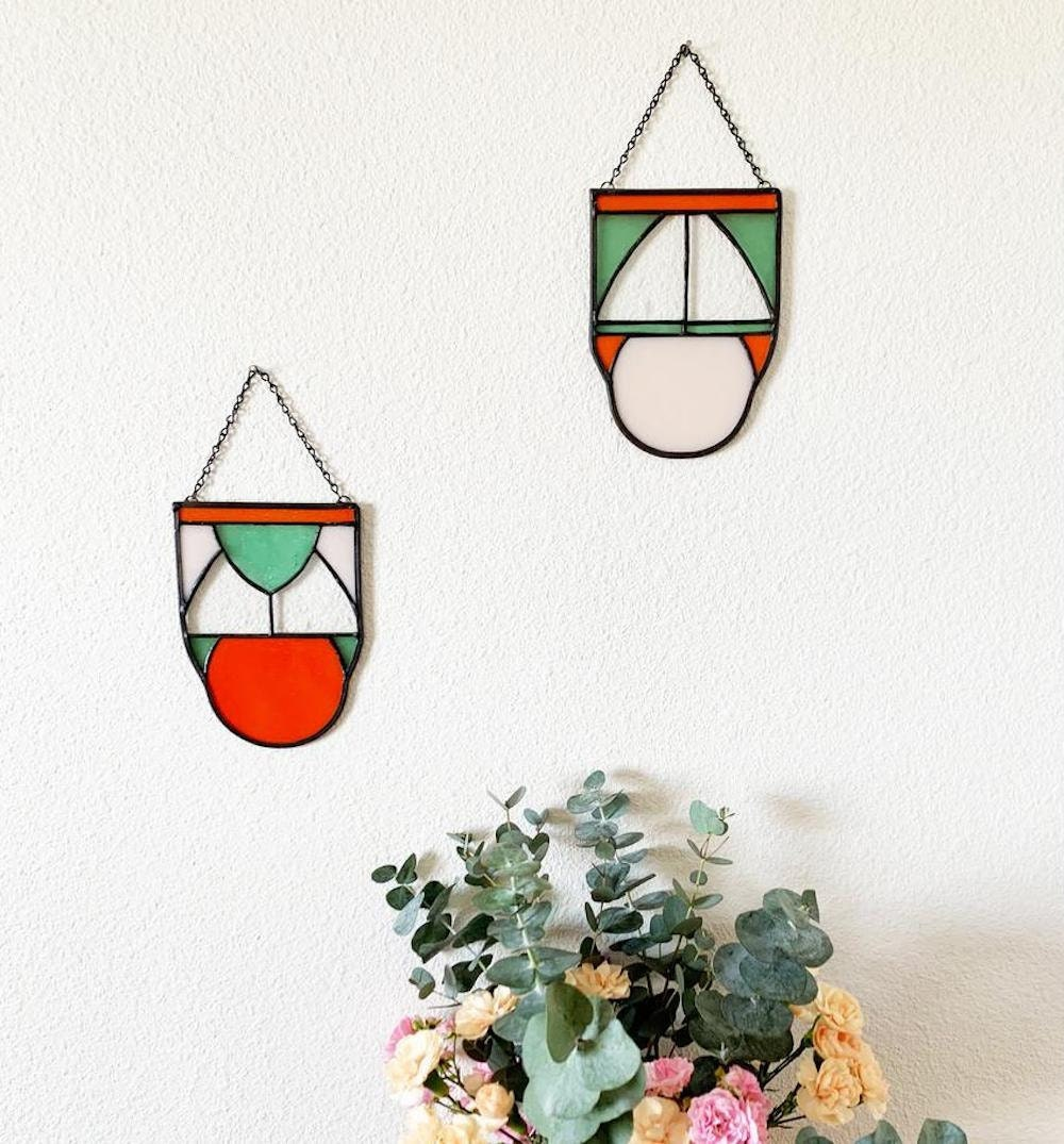 Stained glass wall art from Te Haus
