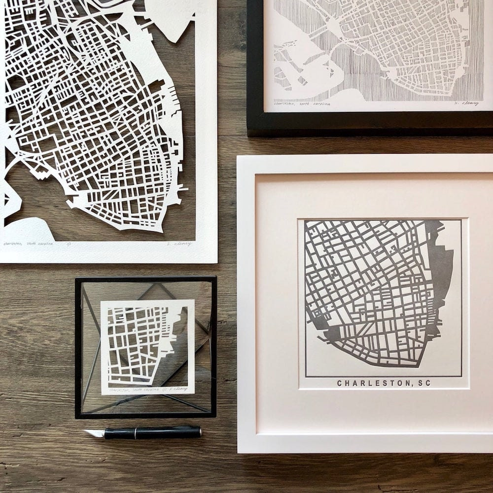 Curated image with Assorted South Carolina maps from Studio KMO, from $35