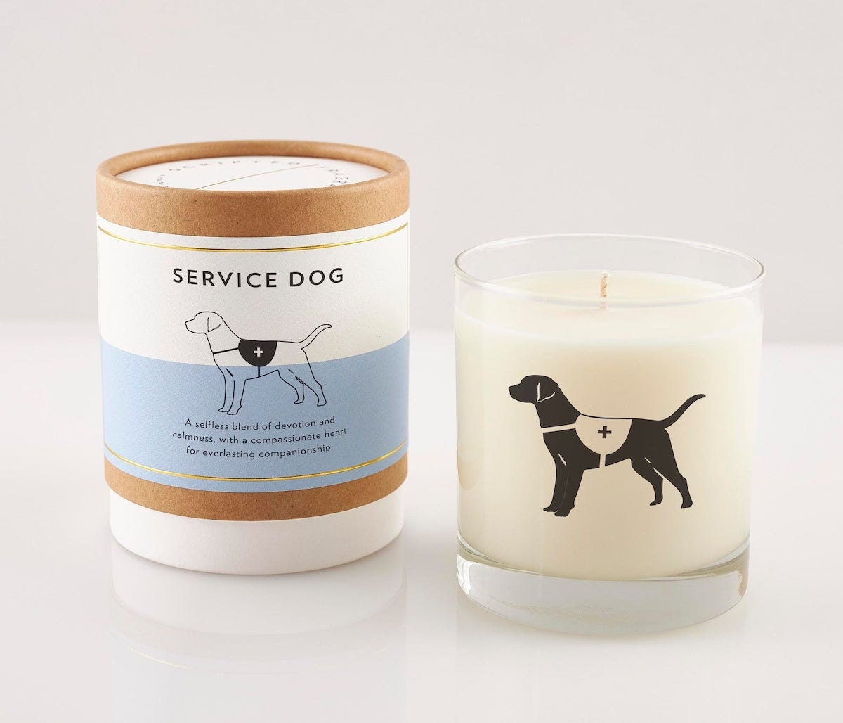 Service Dog soy candle from Scripted Fragrance on Etsy