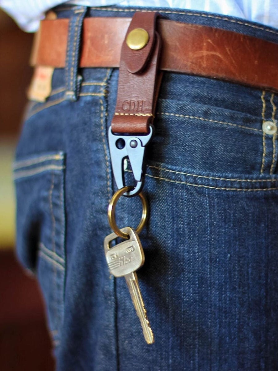 Personalized leather keychain from Holtz Leather Co., and more of the best dad gifts from Etsy