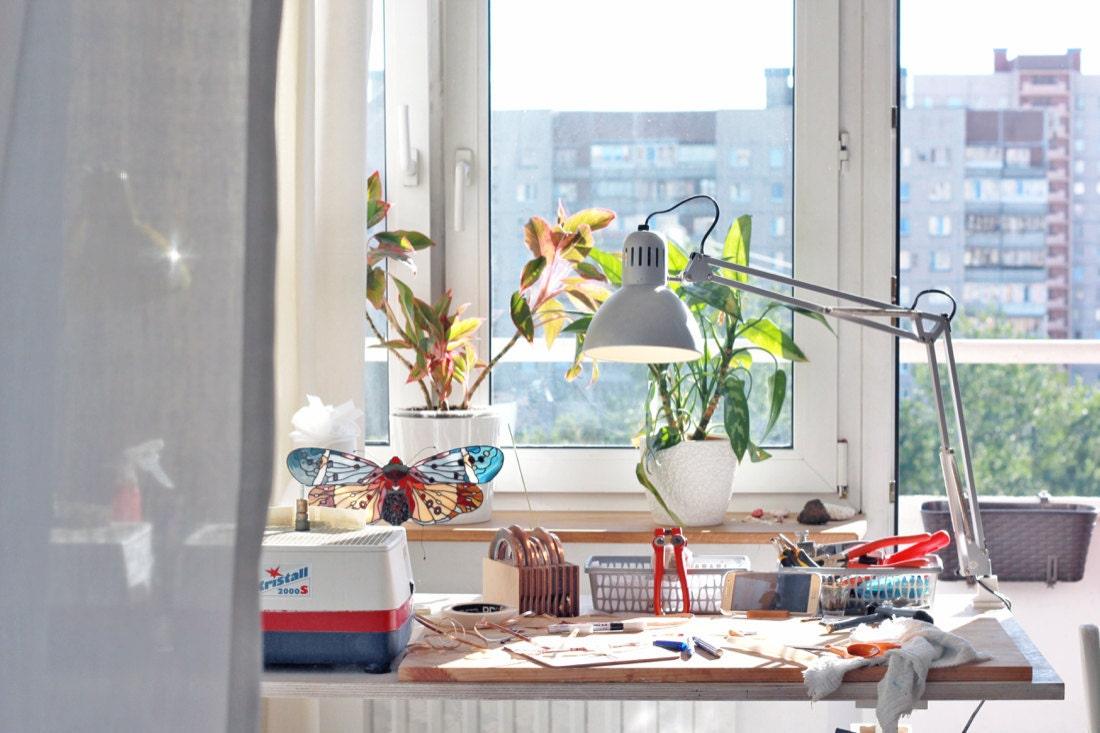 Elena's sun-filled Saint Petersburg studio