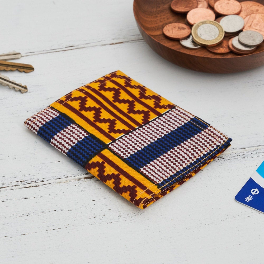A colorful patterned card holder from Bespoke Binny