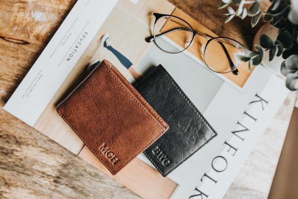 Personalized leather wallet from The Leather Expert