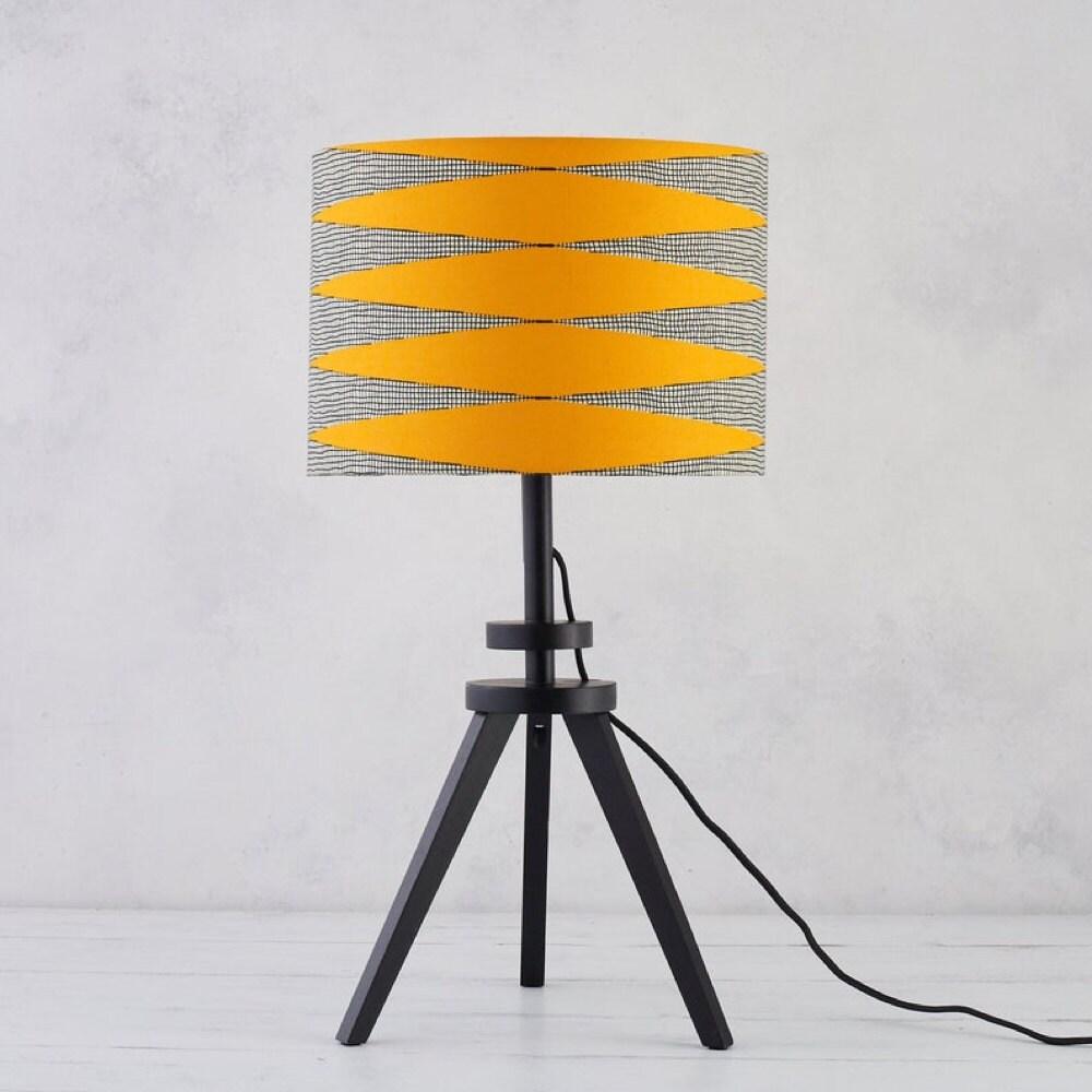 Yellow zigzag lampshade from Bespoke Binny