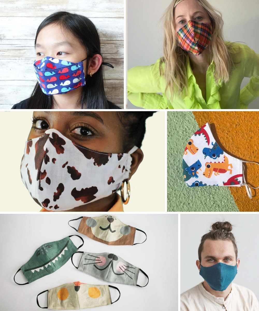 Face masks and other back-to-school supplies from Etsy