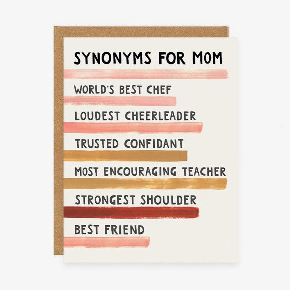 A unique Mother's Day card for a mom who's a chef, cheerleader, confidant, teacher, shoulder to cry on, and best friend