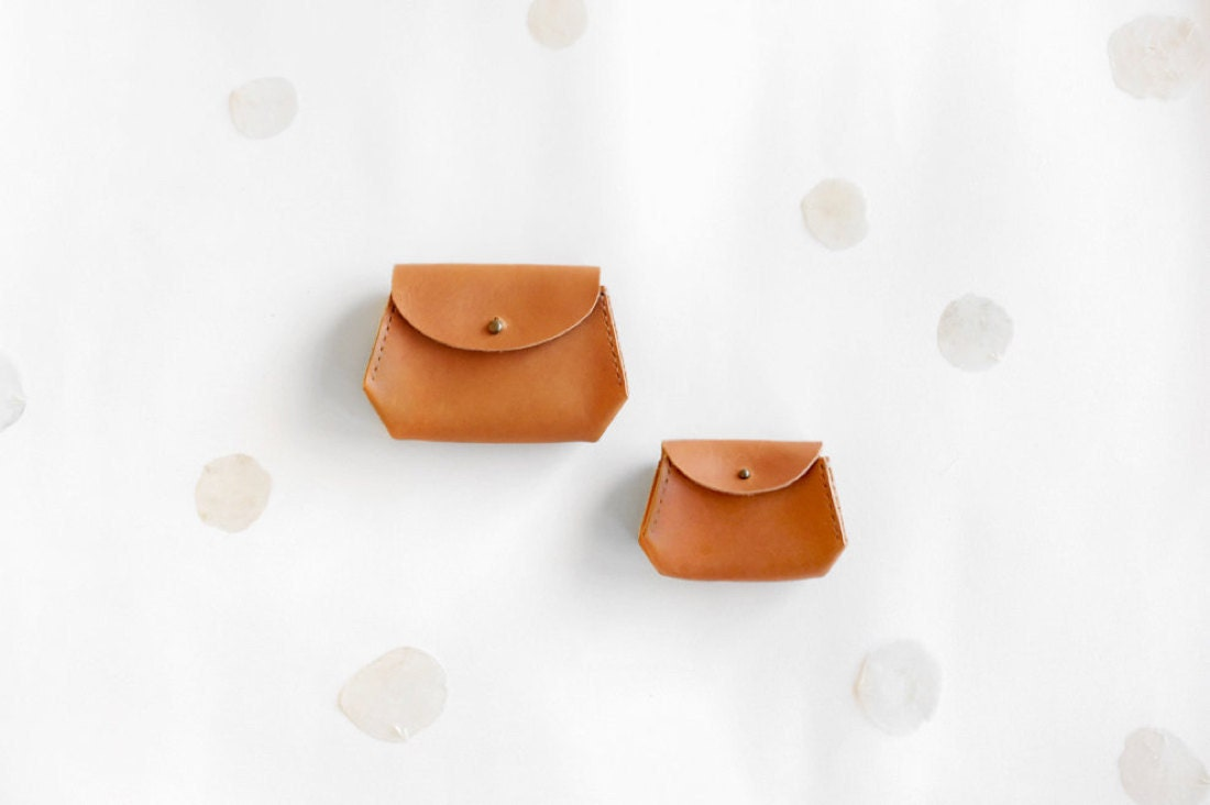 Small leather pouches from Small Queue
