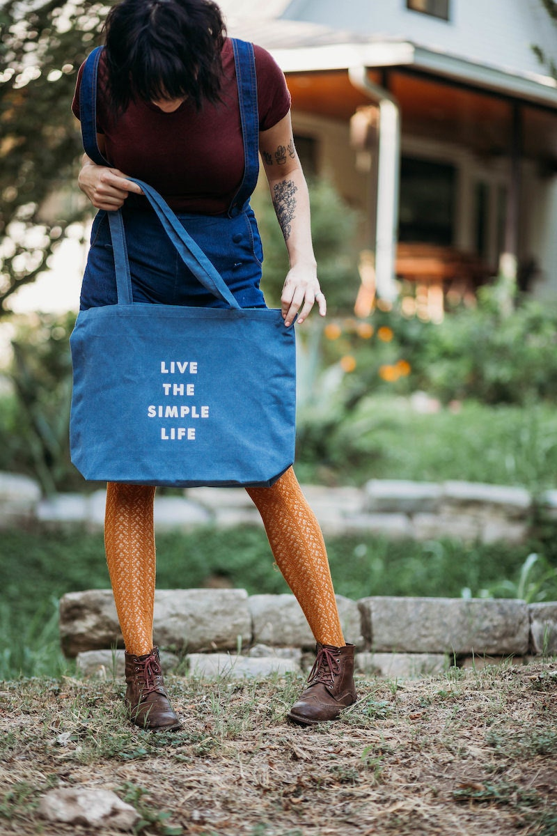 """""""Live The Simple Life"""" reusable tote bag from Nature Supply Co."""