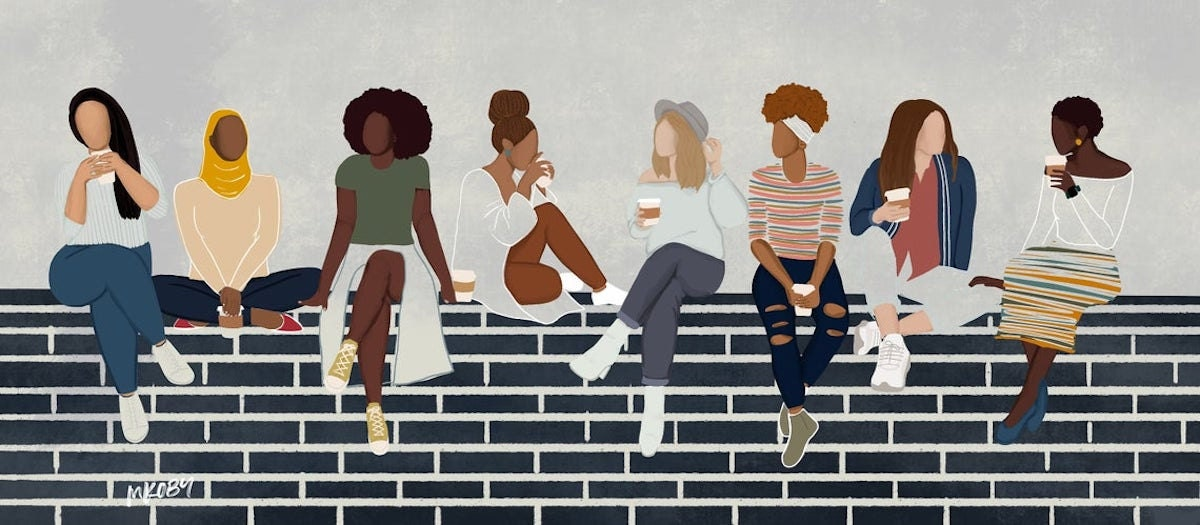 """""""Coffee Date"""" print from M. Koby Art"""