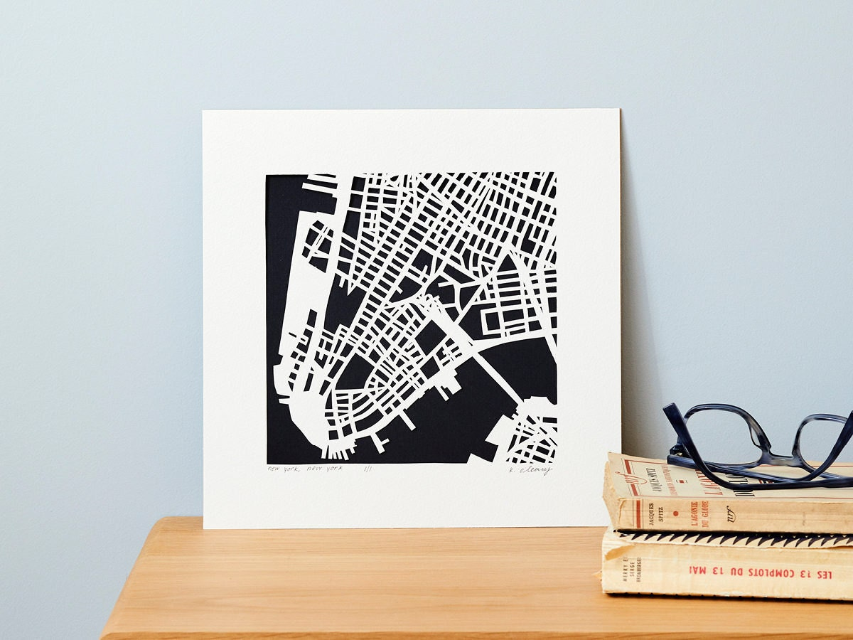 hand-cut paper map from Studio KMO