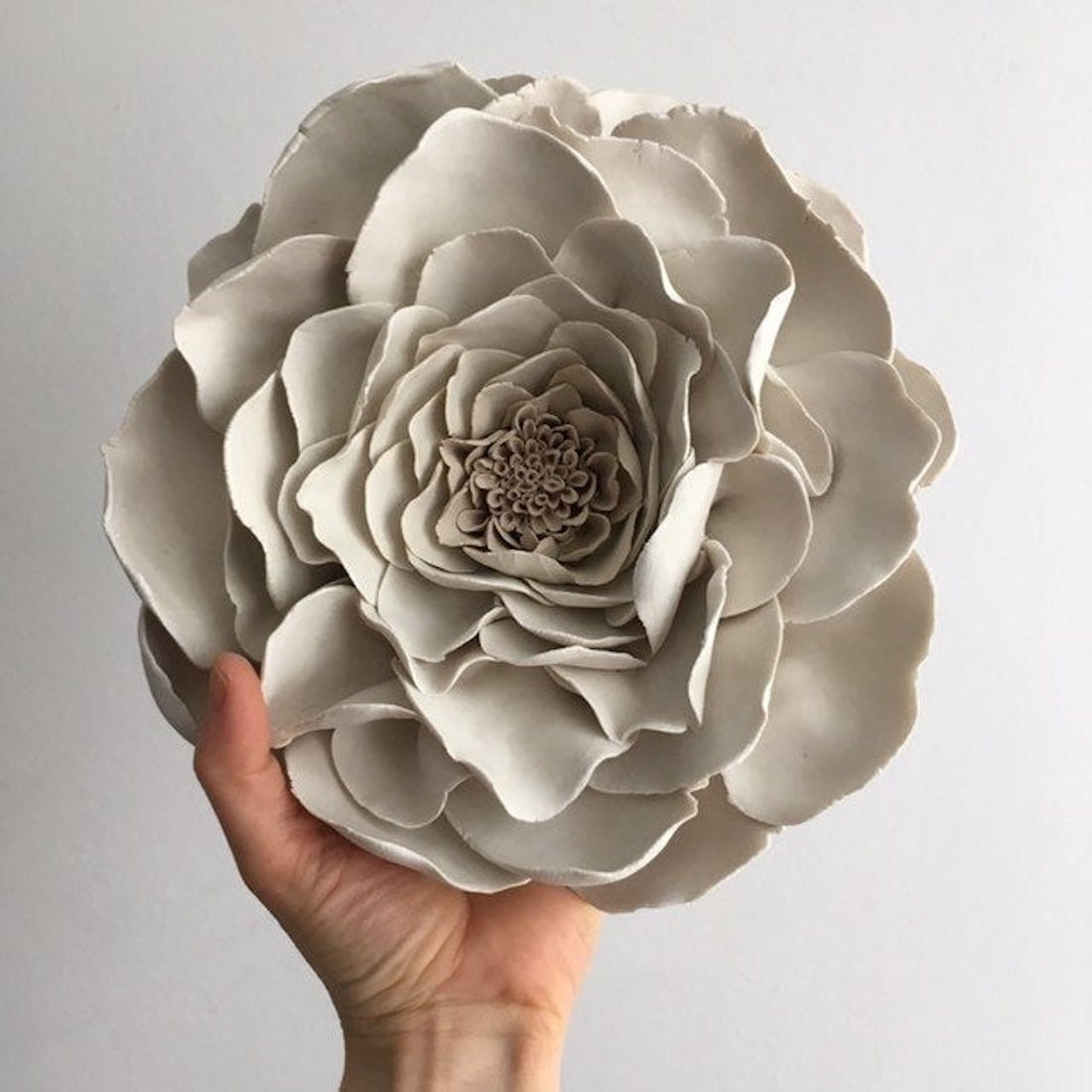 Porcelain gardenia wall flower from MAAPSTUDIO Artworks