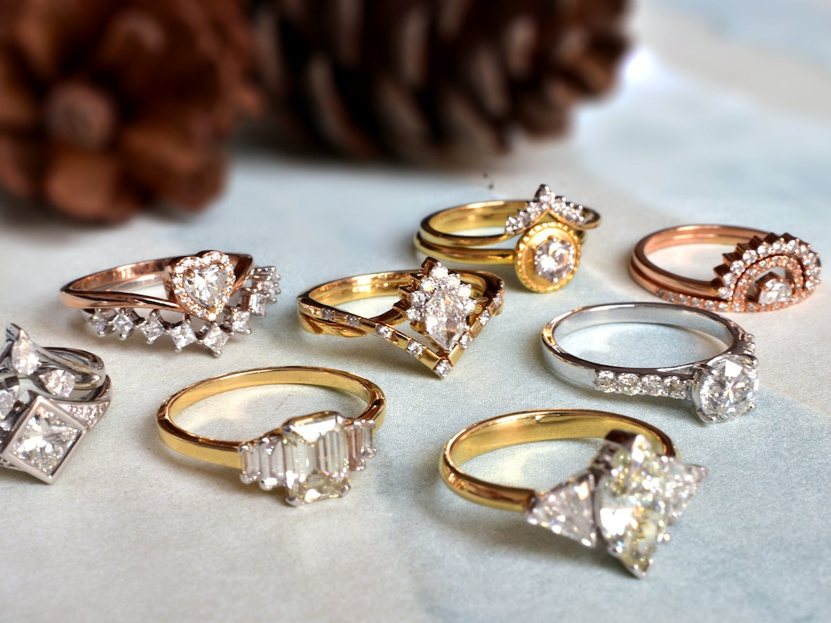 Assorted rings from Abhika Jewels