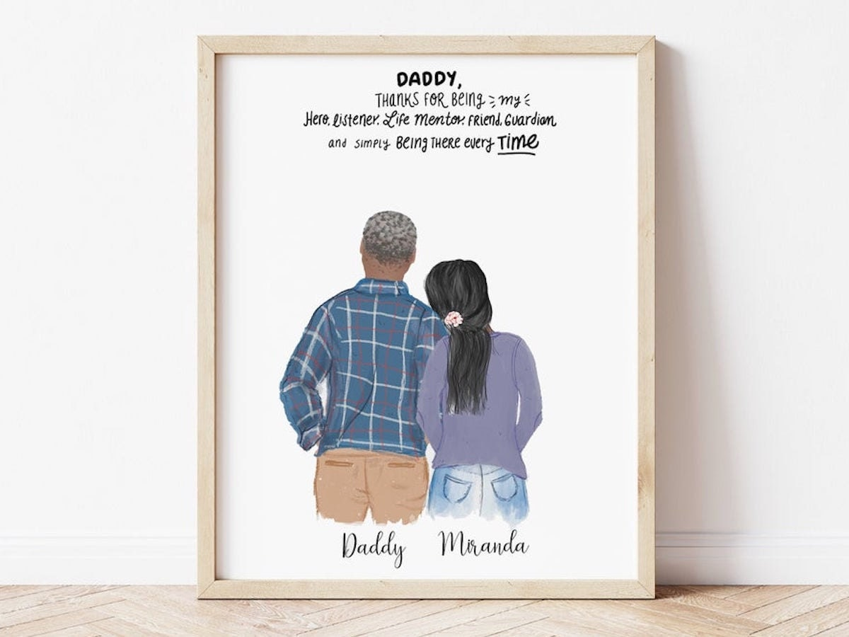 Personalized Father's Day Portrait Gift From Etsy