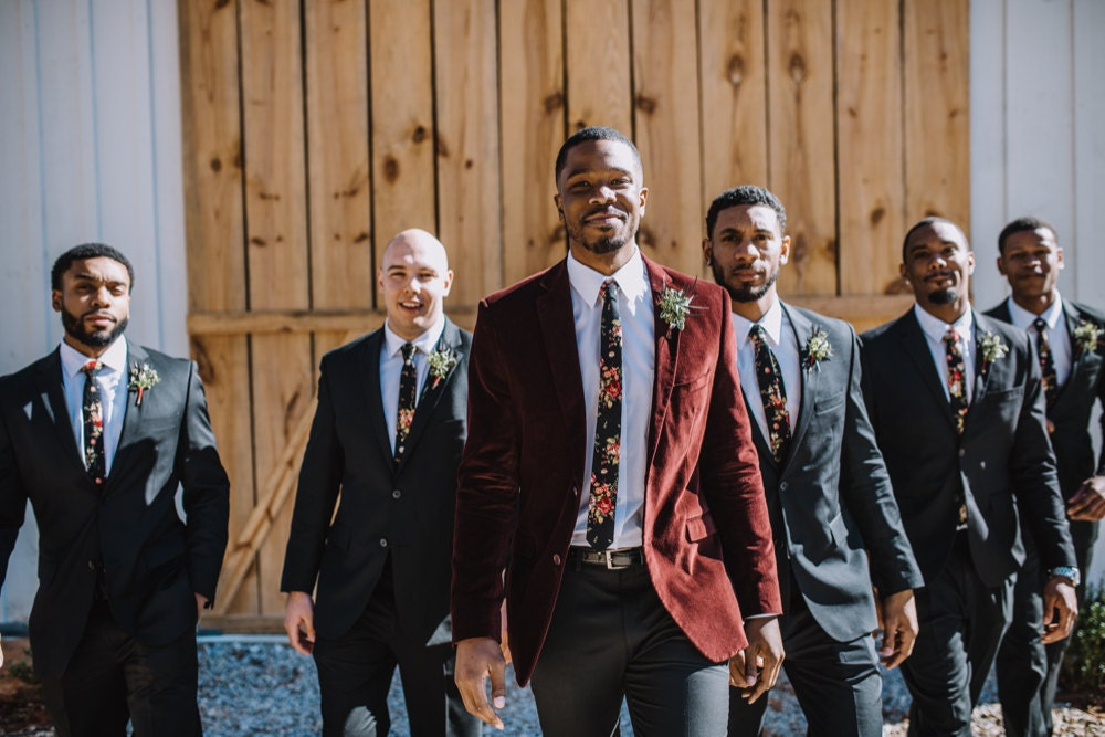 Terrell and his five groomsman