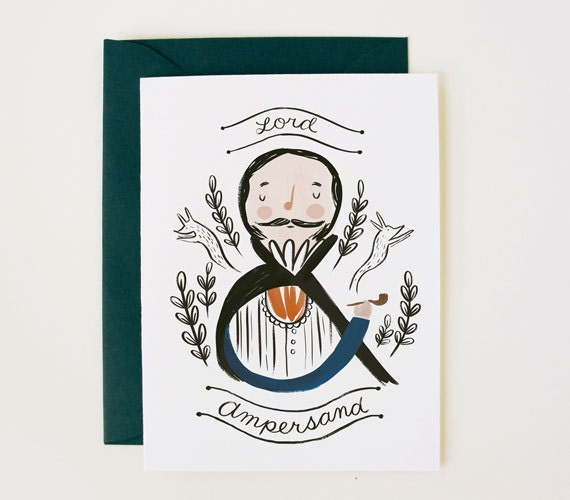 etsyfeaturedshop-quillandfox-handmadecards-papergoods-ampersand