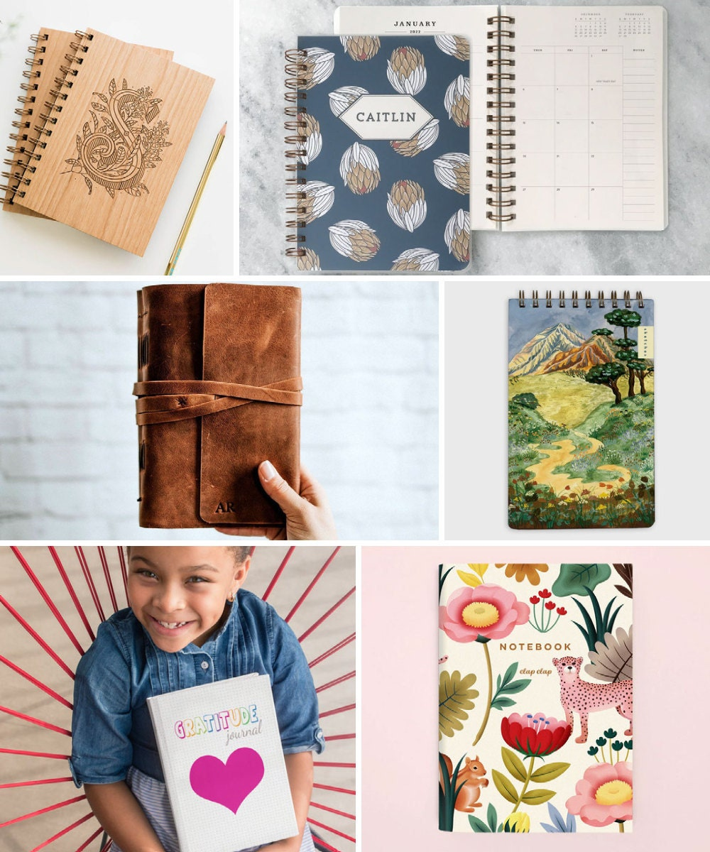 Inspiring notebooks and other back-to-school supplies from Etsy