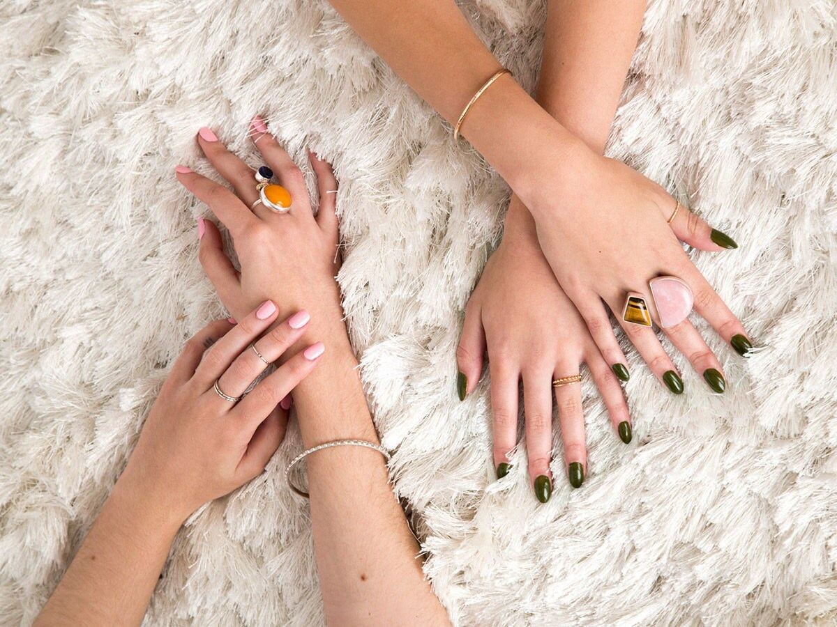 Colorful statement rings from Soft Gold Co.