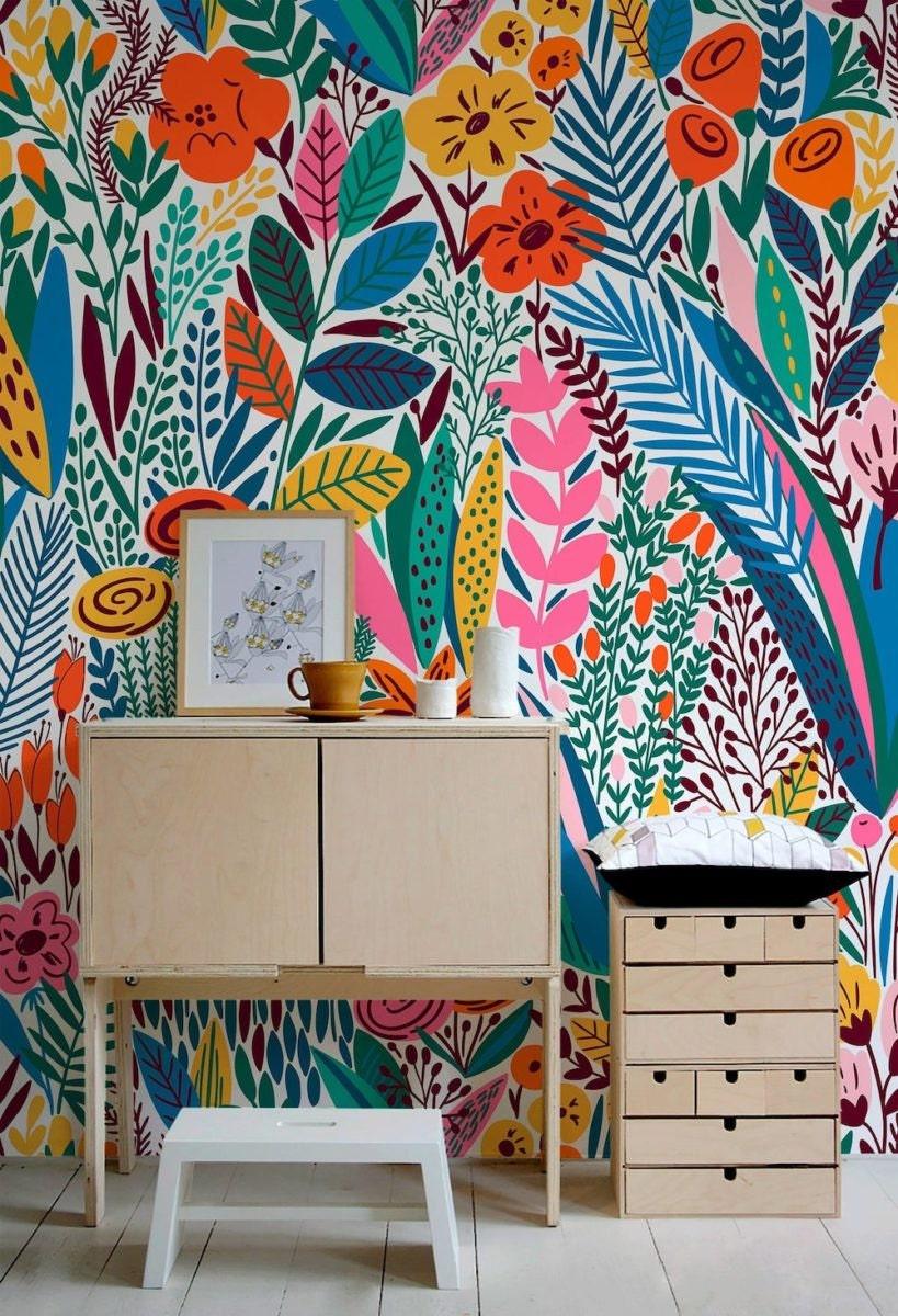 Scandinavian-inspired removable wallpaper from Scandinavian Workshop