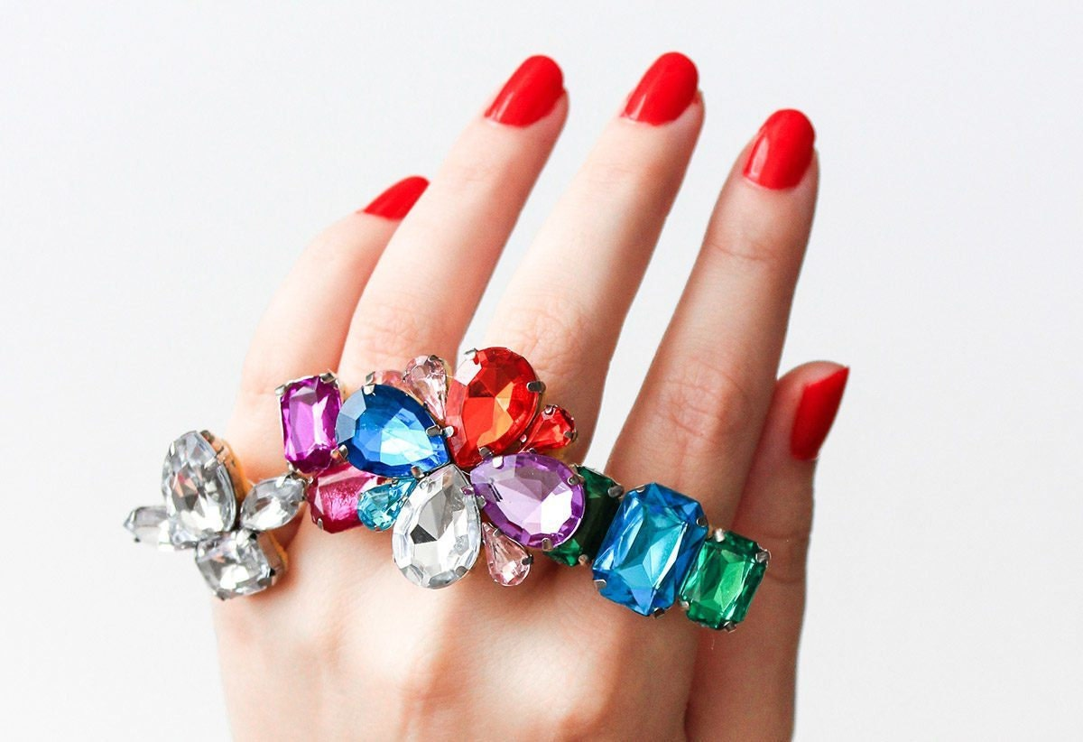 DIY rhinestone ring project