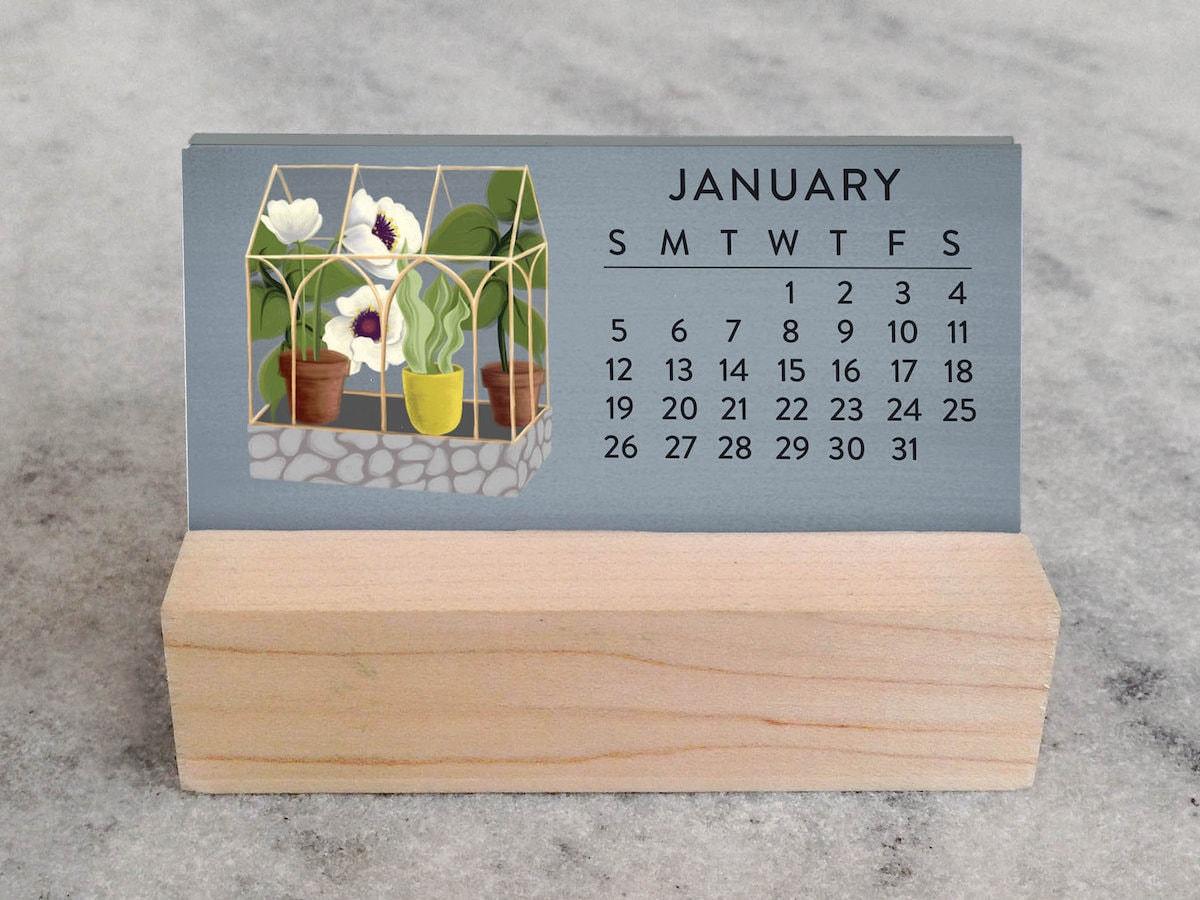 Mini desk calendar from Favorite Story