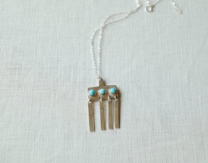 Turquoise chime pendant from Sarah Safavi